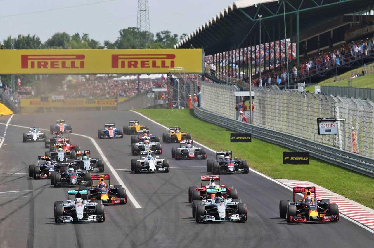 2016年F1第11戦ハンガリーGP スタートシーン