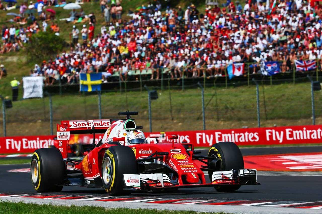 2016年F1第11戦ハンガリーGP セバスチャン・ベッテル(フェラーリ)