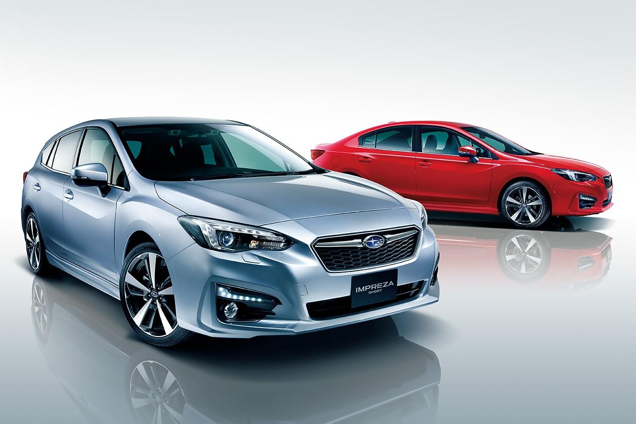 スバル、新型インプレッサの国内仕様車を公開