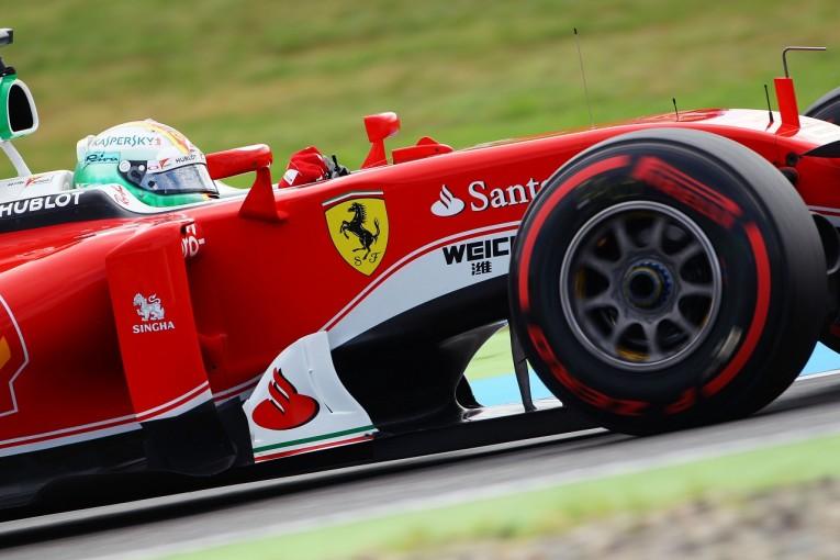F1   ベッテル「ロングランペースが課題」:フェラーリ ドイツ金曜