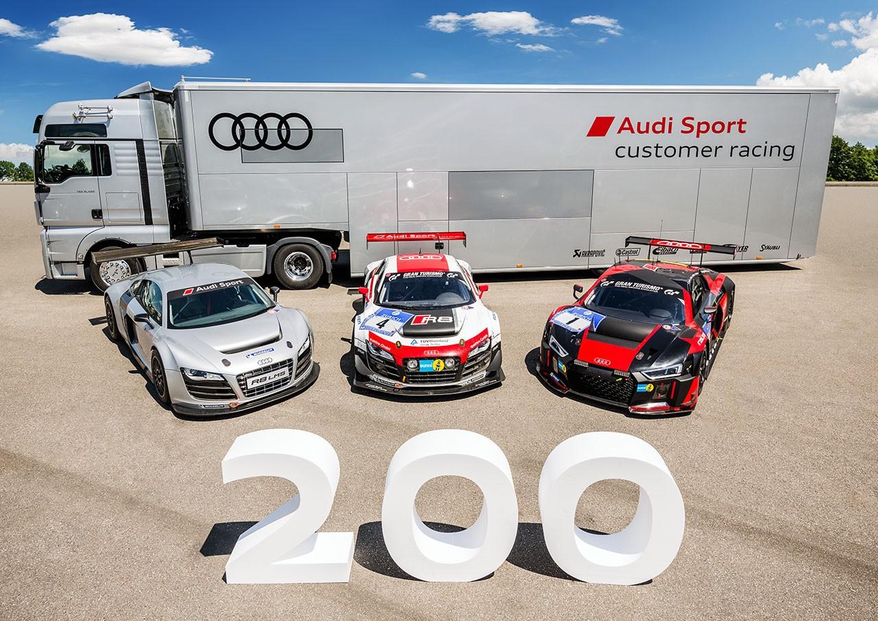 今年で生産200台を越えたAudi R8 LMS