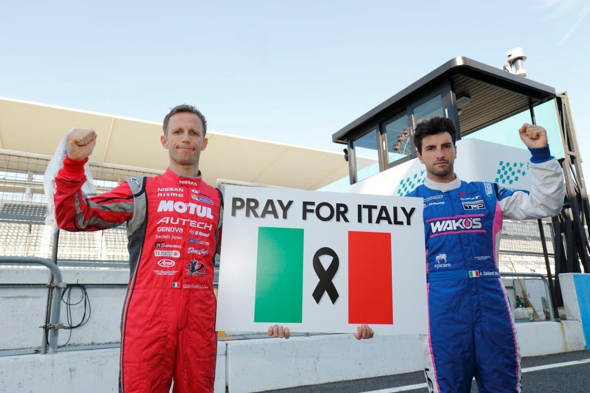 イタリア大地震に向けスーパーGT参戦のドライバーたちからメッセージ
