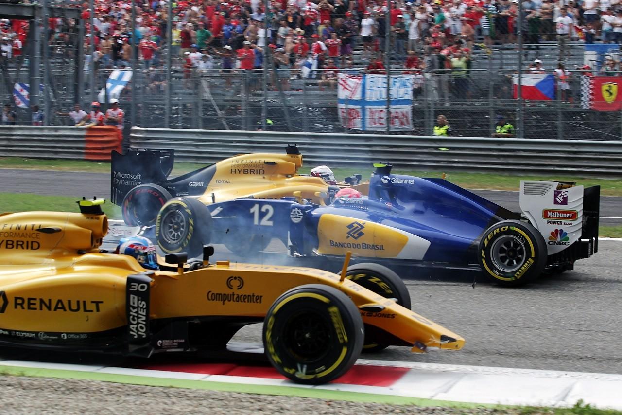 2016年イタリアGP フェリペ・ナッセとジョリオン・パーマーの接触