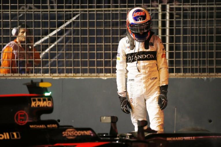 F1 | バトン「なぜ僕だけがパンク…。余裕でQ3に進めたはずだった」:マクラーレン・ホンダ シンガポール土曜