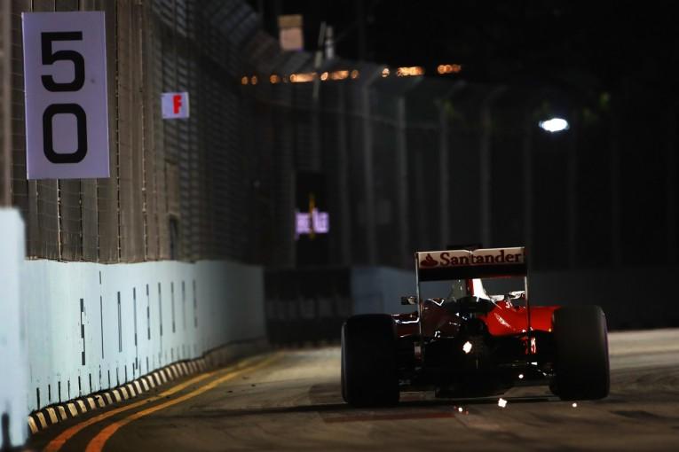 F1 | 最下位ベッテル「チームは間違ってない。でも3輪で走るのは無理だった」:フェラーリ シンガポール土曜