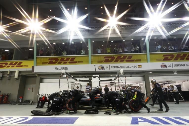 F1 | バトン「問題が悪化しリタイア。1周目の事故で終わったも同然」:マクラーレン シンガポール日曜