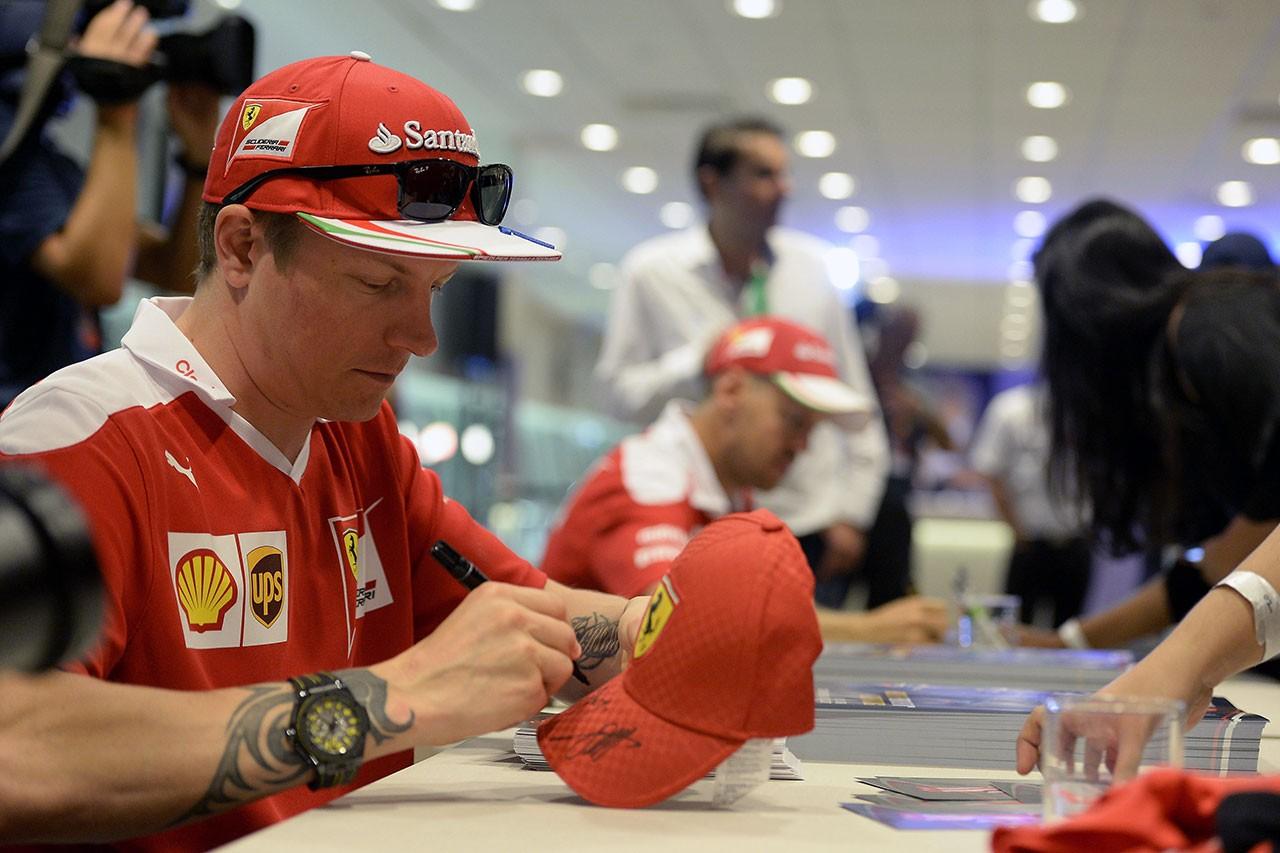 F1シンガポールGPフェラーリのキミ・ライコネン