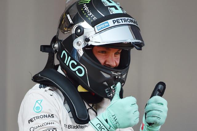 F1   ハミルトンを破り、ロズベルグが今季初PPを奪取