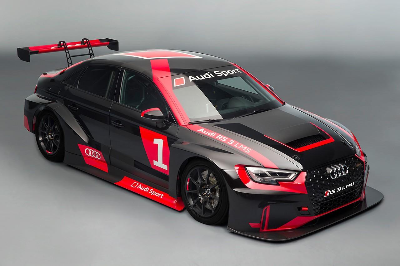 アウディ、パリショーで400馬力超の『RS3』を発表。TCR向け『RS3 LMS』も同時公開