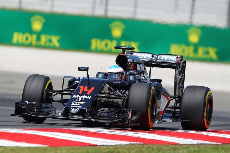 F1   アロンソ「新PUのテストは好調。予選で戦えないのは残念だが…」:マクラーレン・ホンダ マレーシア金曜