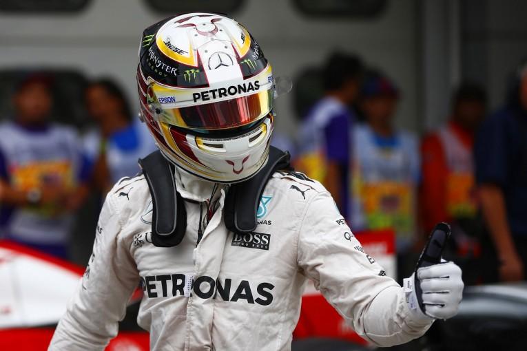 F1 | PPのハミルトン「もっと速いタイムだって出せた」:メルセデス マレーシア土曜