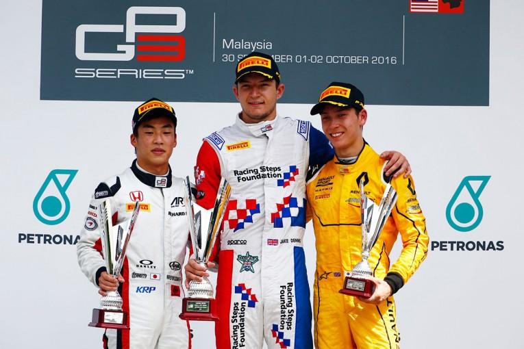 海外レース他 | 福住が2位表彰台 【順位結果】GP3第8戦マレーシア決勝レース2