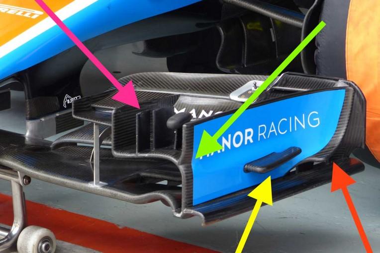 F1   F1メカUPDATE:フロントウイングの改良を続けるマノー