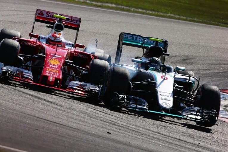 F1 | ライコネン「ロズベルグにヒットされ、マシンが壊れた」:フェラーリ マレーシア日曜