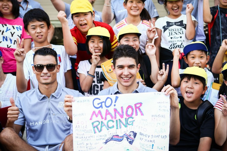 F1 | オコン「日本とファンが大好き。鈴鹿にもう夢中」:マノー F1日本GP金曜