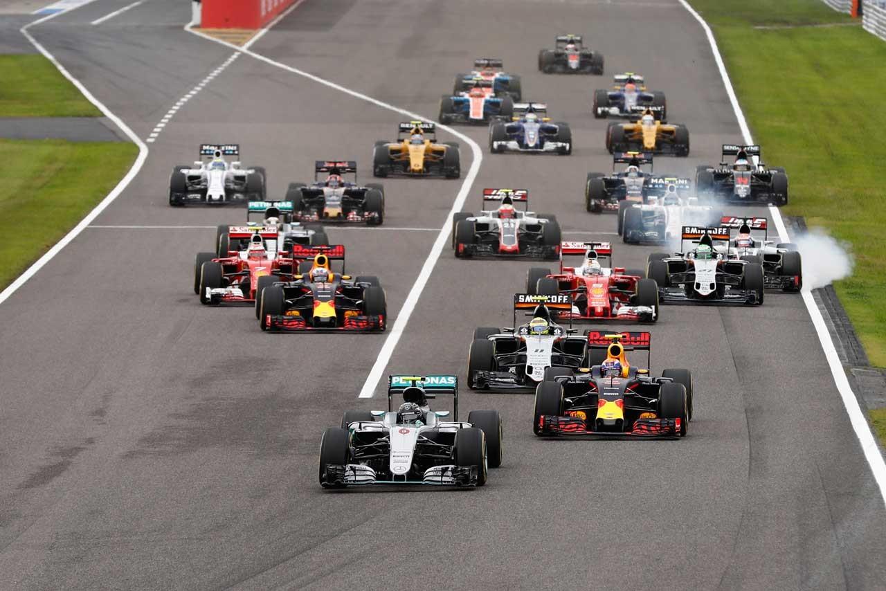 2016年F1第17戦日本GP 決勝レーススタート