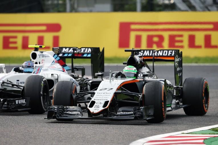 F1 | ヒュルケンベルグ「ボッタスに対するオーバーテイクが今日のハイライト」:Fインディア F1日本GP日曜