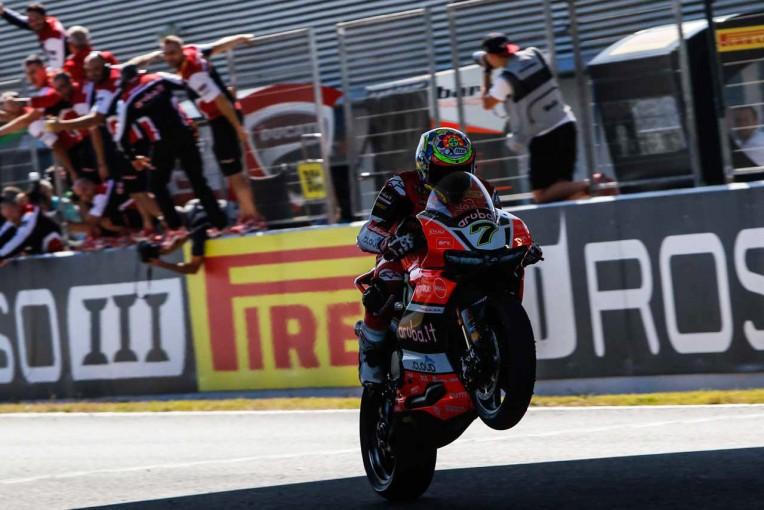 MotoGP | SBK第12戦へレス決勝レース1:デイビスが6台抜きで優勝。カワサキがタイトルを獲得