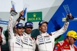 WEC第7戦富士3位表彰台を獲得したティモ・ベルンハルト/マーク・ウエーバー/ブランドン・ハートレー組1号車ポルシェ919ハイブリッド