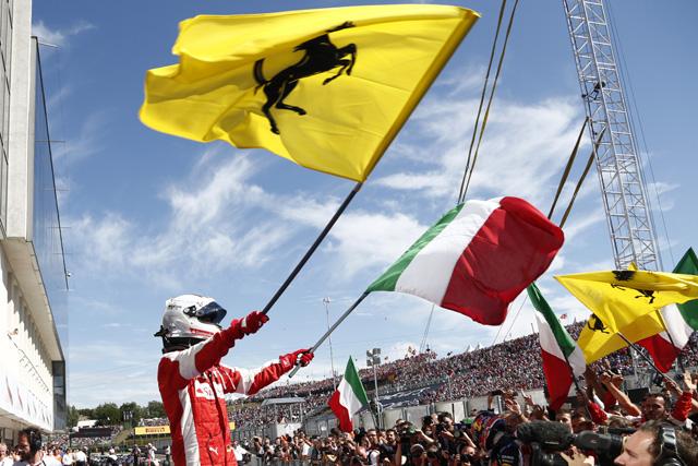 F1 | ベッテル、ビアンキに捧げるV。健闘アロンソ5位