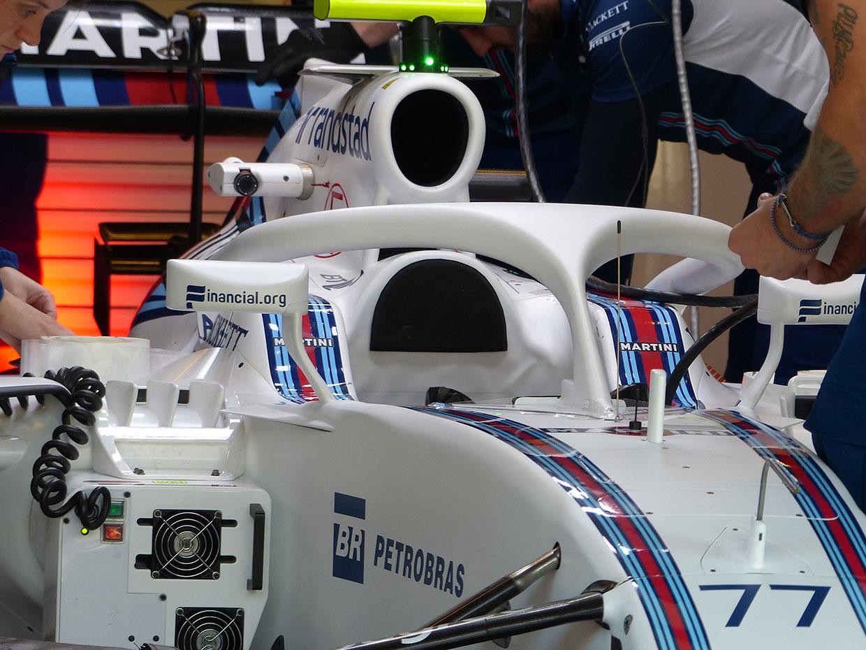 F1メカUPDATE:ウイリアムズカラーのコクピット保護デバイス「ハロ」が登場