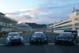 スーパーGT | 10月24日からのテストに向けオートポリスに3メーカーの17年仕様GT500車両が集結