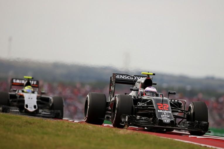 F1   バトン「19位から9位入賞は大満足。でも今後は予選のミスをなくそう」マクラーレン F1アメリカGP日曜