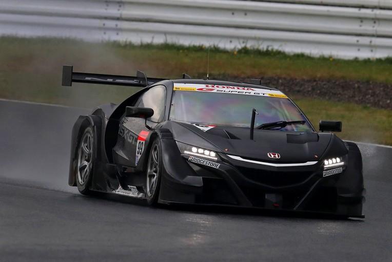 スーパーGT | スーパーGT:GT500新型車テストの2日目午後は雨に見舞われる