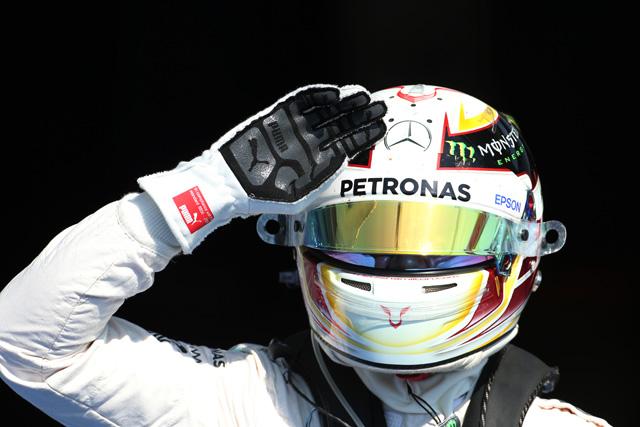 F1   ハミルトンが6戦連続PP、降格グロージャンが4番手