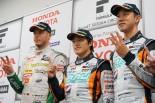 スーパーフォーミュラ鈴鹿 決勝レース1後の記者会見に出席したドライバーたち