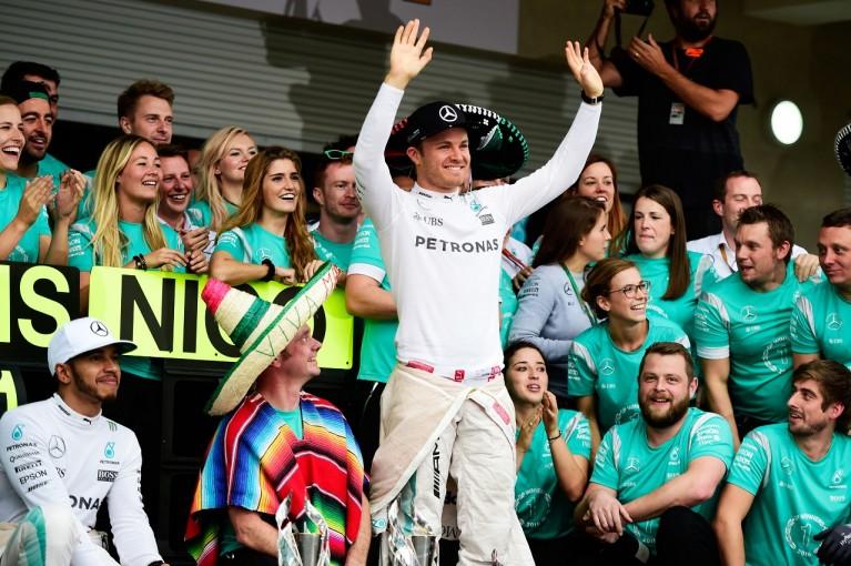 F1 | ロズベルグ「フェルスタッペンが接触。2位を守れてツイてた」:メルセデス F1メキシコGP日曜