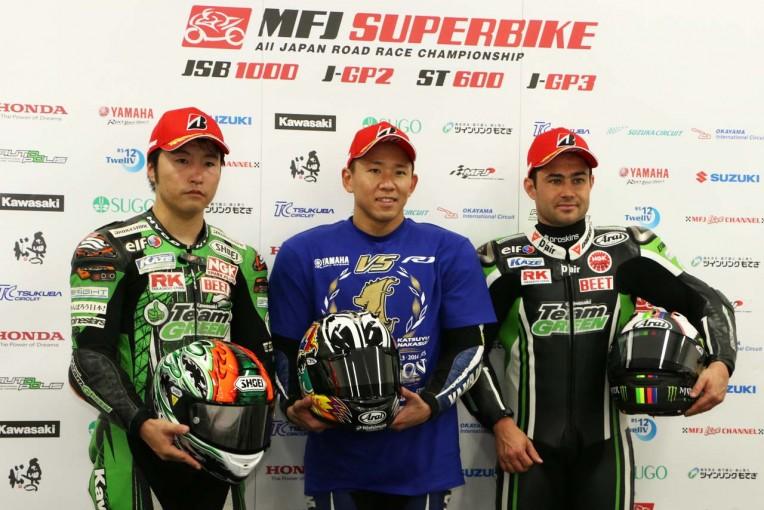 MotoGP   全日本ロード第9戦鈴鹿:レース1後会見/中須賀「世界でバトルできると証明できた」
