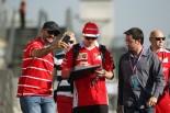 F1   ライコネン「ブレーキのトラブルで走行を中断」:フェラーリ F1ブラジルGP金曜