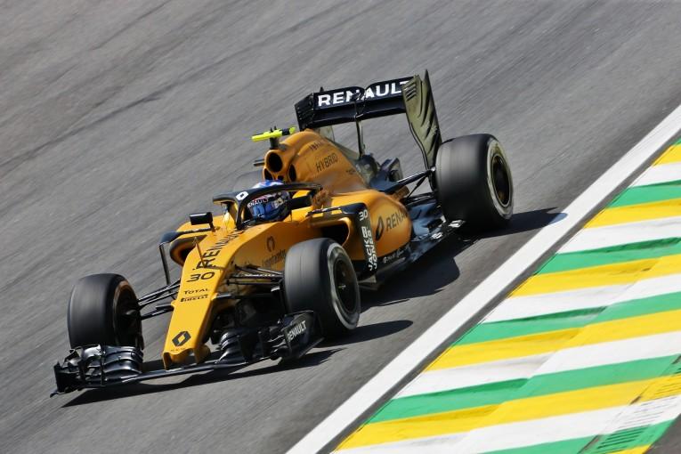 """F1   パーマー「""""ハロ""""がついていると屋根があるみたい」:ルノー F1ブラジルGP金曜"""