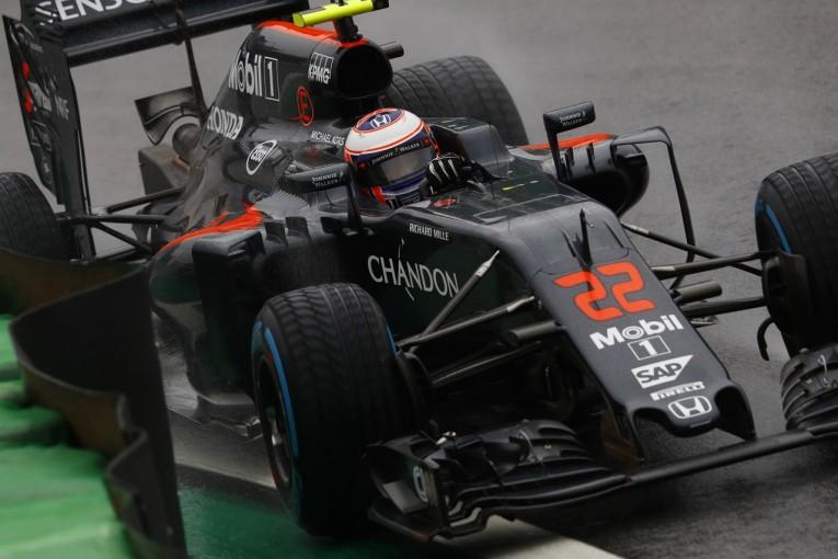 F1 | バトン「僕が雨で最下位なんておかしい。車に不具合があったはず」マクラーレン・ホンダ F1ブラジルGP日曜