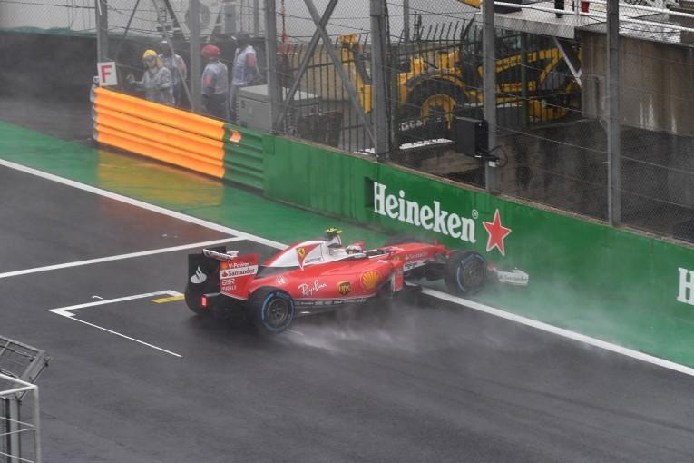 F1   スピンしたライコネン「10年前のタイヤならこんなことは起きなかった」:フェラーリ F1ブラジルGP日曜