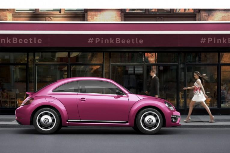 クルマ   VWビートルに走りの『R-Line』追加。300台限定の『#PinkBeetle』も登場