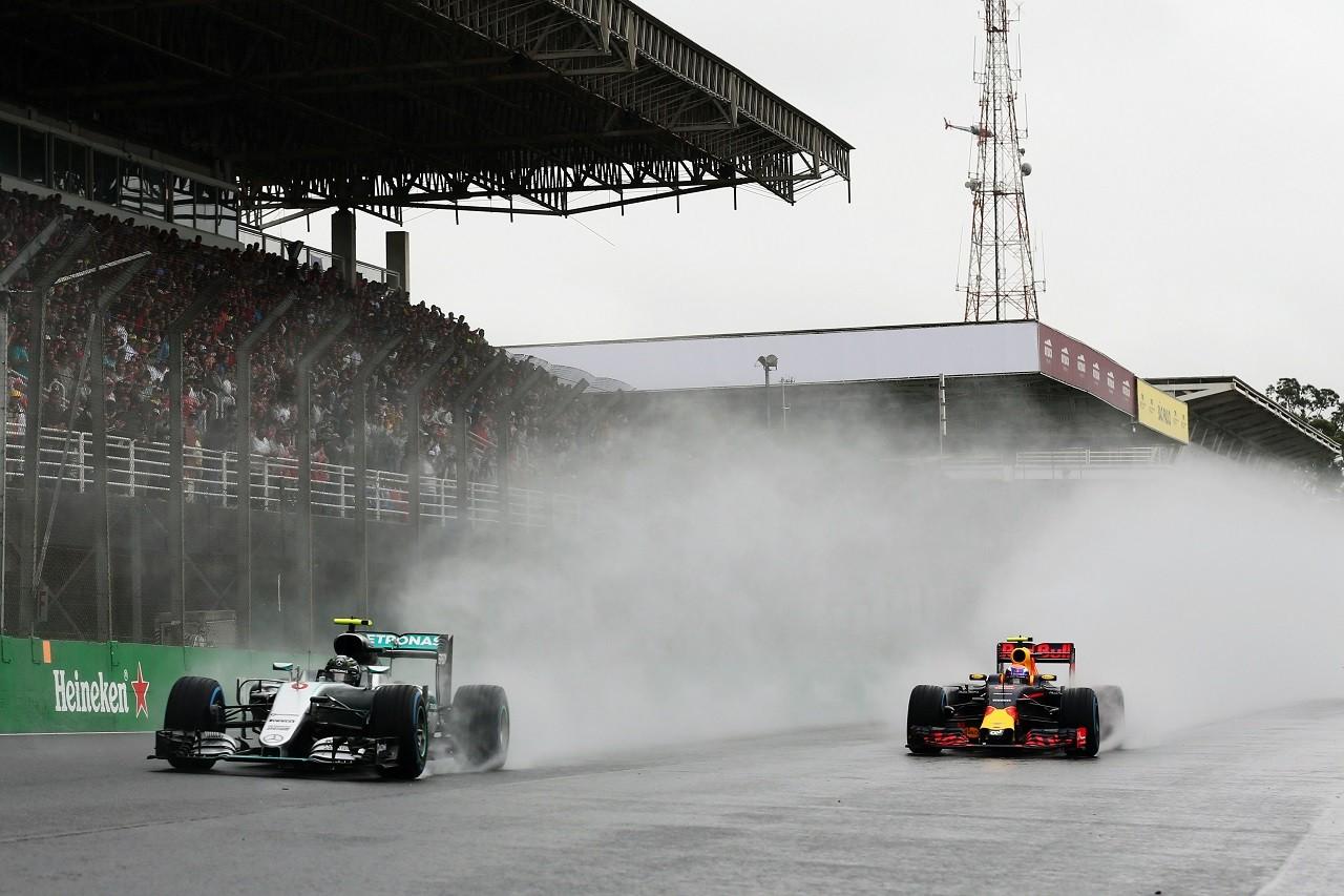 2016年第20戦ブラジルGP ニコ・ロズベルグとマックス・フェルスタッペン