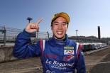 FIA-F4第14戦で優勝した平木湧也(FTRSスカラシップFTRS)