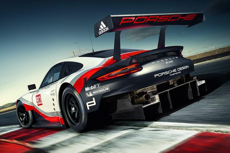 ル・マン/WEC   ポルシェ、2017年LM-GTE規定対応の新型RSRを公開。エンジンはリヤミッド搭載
