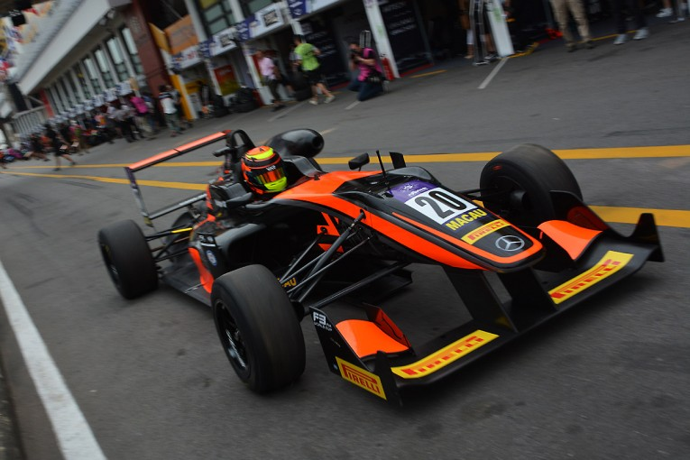 海外レース他 | F3マカオGP:プラクティス2はアイロット首位。日本勢は山下3番手も苦しい展開続く