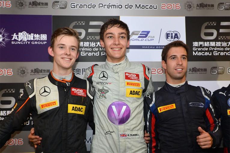 海外レース他   F3マカオGPの予選はラッセルがポールを獲得。山下は5番手から予選レースへ