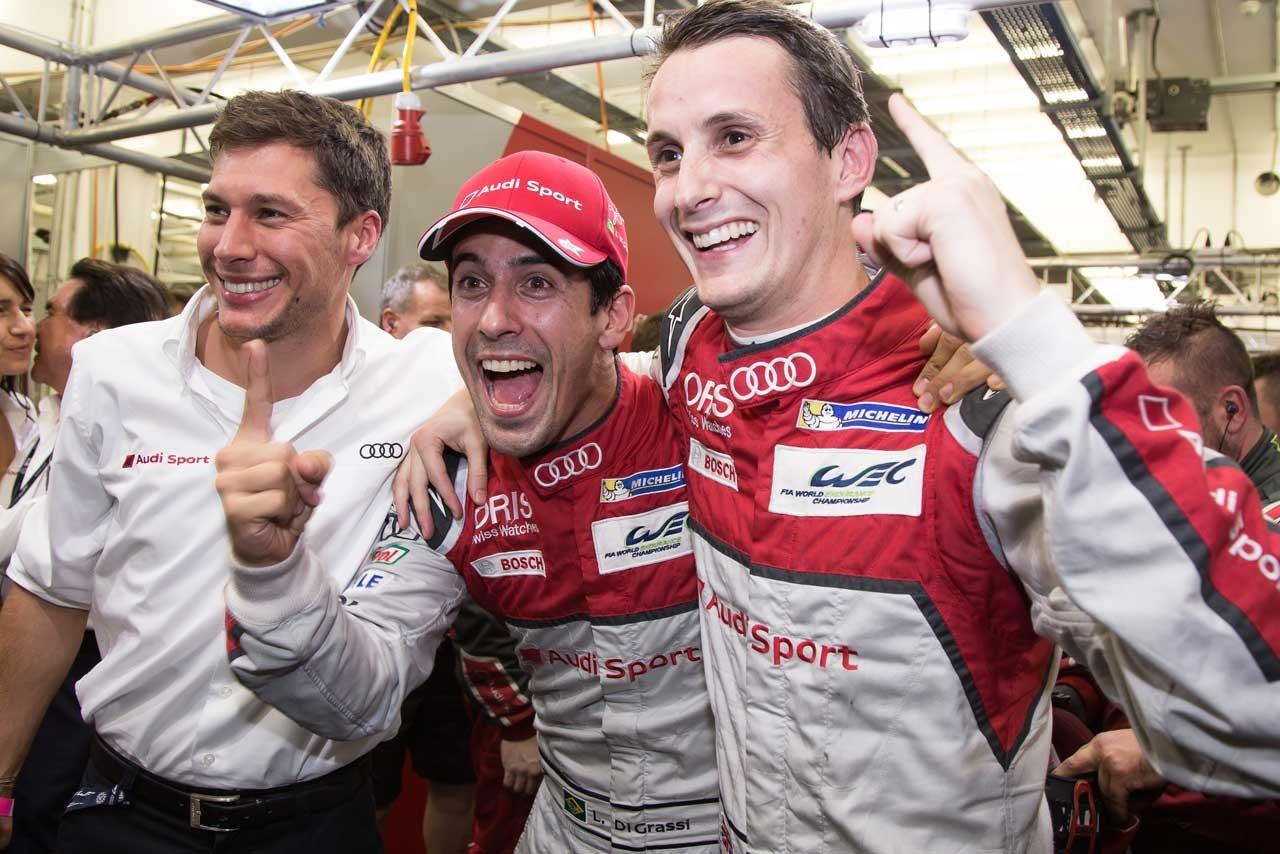 WECバーレーン:ラストレースの8号車アウディがポール獲得。トヨタ勢は最速タイム抹消の憂き目に