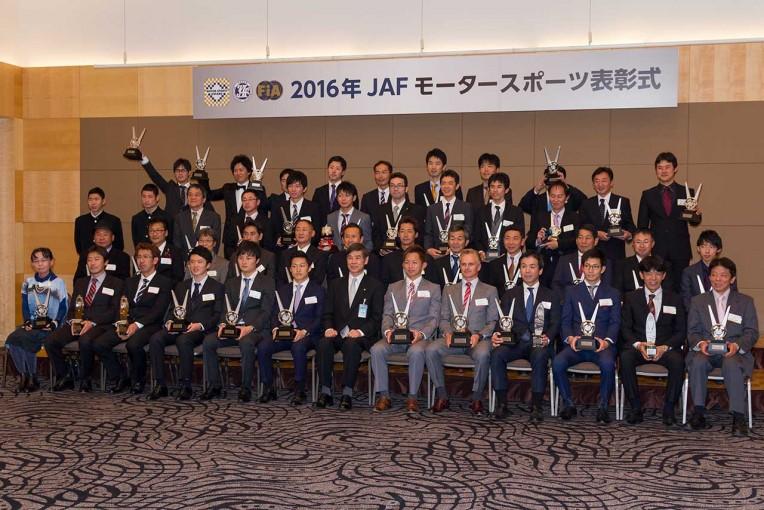 スーパーGT   恒例のJAF表彰式開催。各シリーズのチャンピオンらが一堂に会す