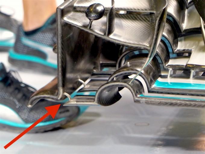 F1 | F1メカUPDATE:ハミルトンが幻となっていた新フロントウイングをFP2で投入