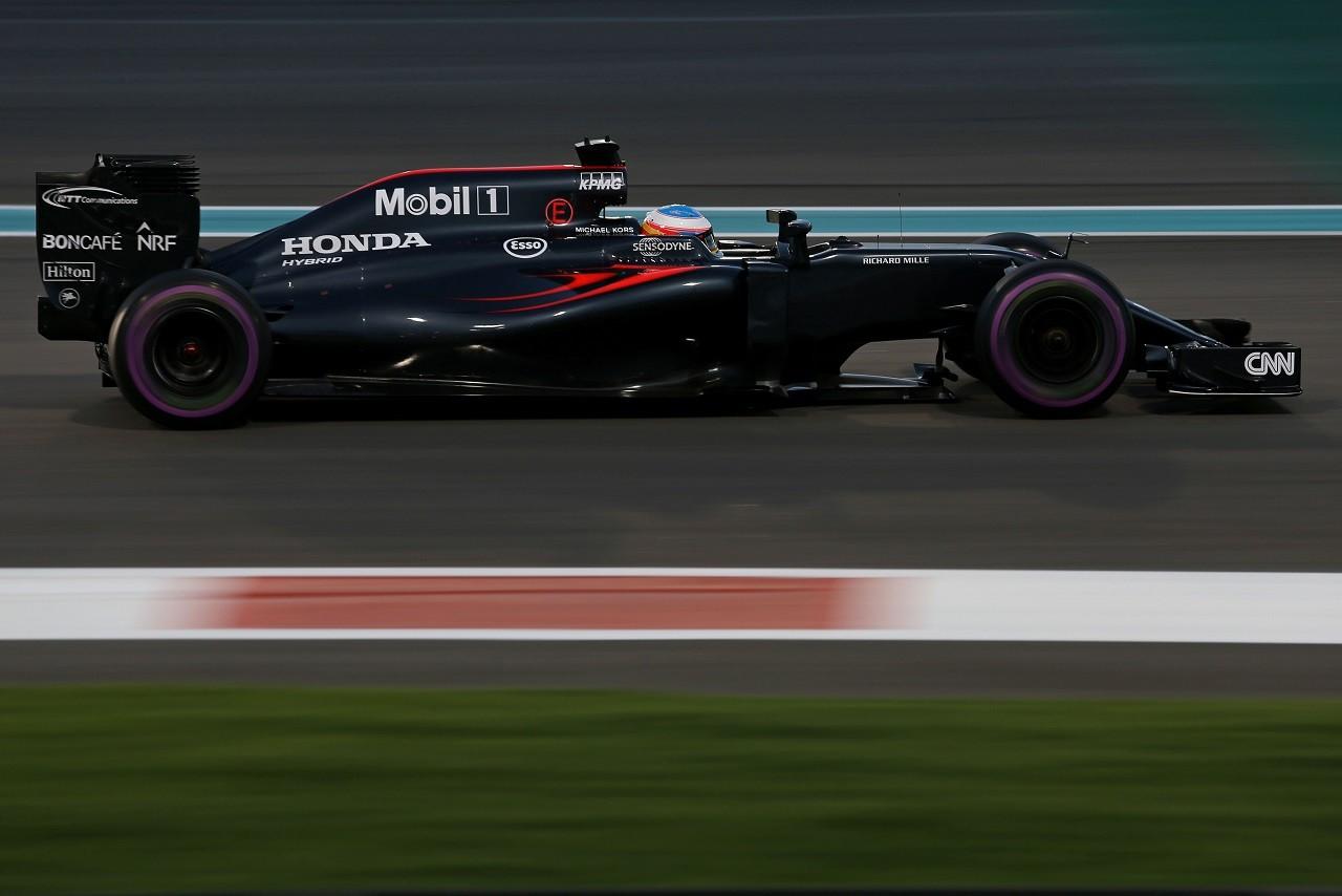 2016年F1第21戦アブダビGP フェルナンド・アロンソ(マクラーレン・ホンダ)