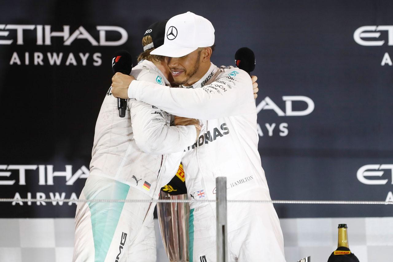2016年F1第21戦アブダビGP 表彰式