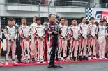 2016年のTOYOTA GAZOO Racing FESTIVALで開会宣言を行った豊田章男社長
