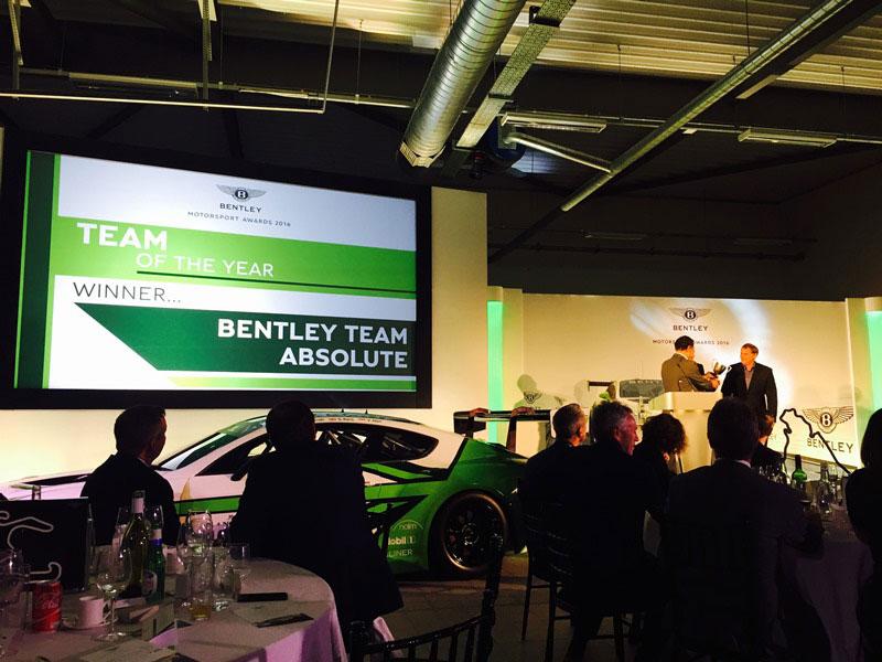 澤圭太が所属するBentley Team Absoluteがベントレー・チーム・オブ・ザ・イヤーを受賞