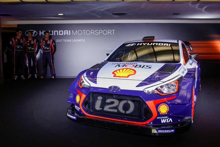 ラリー/WRC   WRC:ヒュンダイ、17年シーズンに投入する『i20クーペWRC』をアンベイル